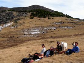 Boulder Hot Springs Hikers Resting