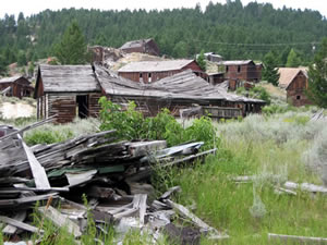 Photo of a Montana Ghost Town